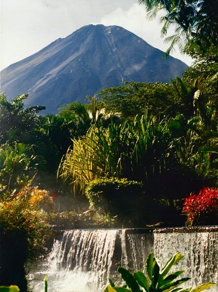 Arenal Volcano, as Seen From Tabacon Hot Springs, Costa Rica. **one of my fave vacations of all time