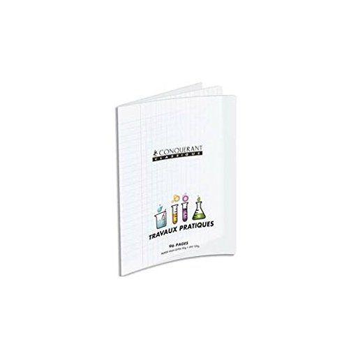 CONQUERANT Cahier Travaux pratique piqué 24 x 32 cm POLYPRO Incolore 90G/120G 96P SEY/UNI