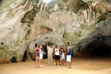 Explore the natural and historical attractions of Aruba in a tropical-themed open-air bus. With a knowledgeable guide, travel around the island in an old school bus decked out in Caribbean colors, where you can sip rum punch and other beverages between visits to cool caves, pristine beaches, California Light House, the Natural Bridge and more. Enjoy an included barbecue lunch, and go swimming at popular Baby Beach. View This & more at: http://ow.ly/UOkc6