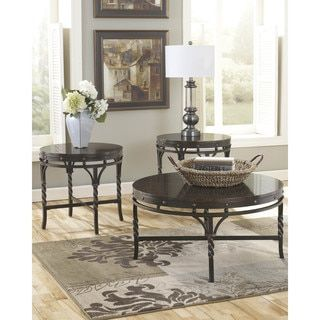 Shop for Signature Designs by Ashley Brindleton 3-piece Occasional Table Set. Get free shipping at Overstock.com - Your Online Furniture Outlet Store! Get 5% in rewards with Club O!