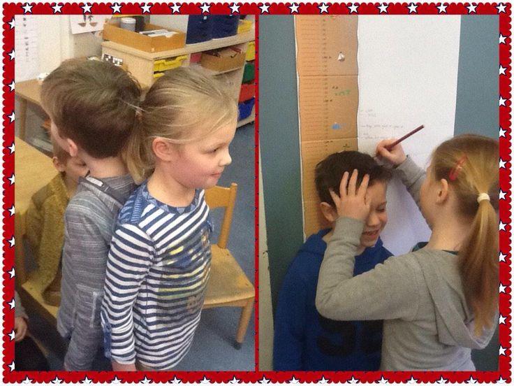 """""""Hoe groot ben jij?"""" Kinderen genieten van deze les. Project """"ziek zijn"""""""