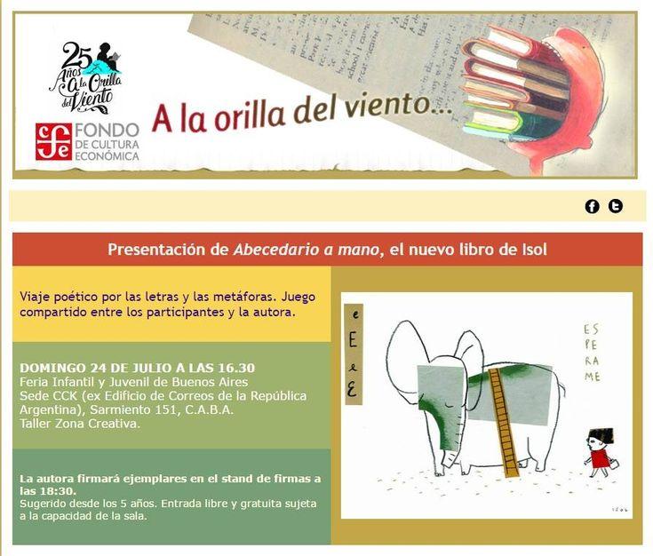 Isol, en la Feria del Libro Infantil y Juvenil de Buenos Aires | LITERARIAS | Por Gabriela Mariel Arias