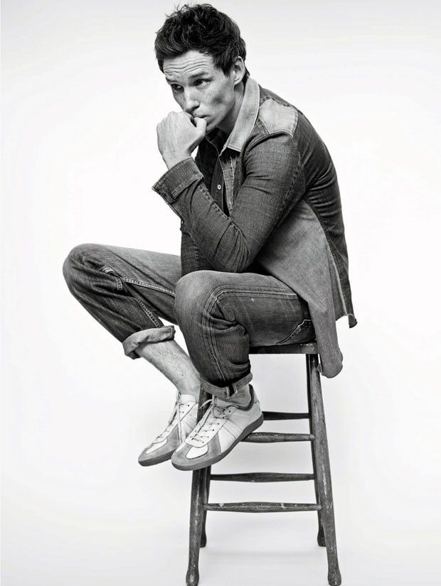 Eddie Redmayne in Denim for ELLE UK