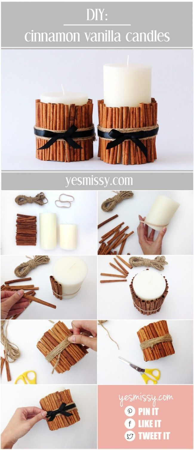 DIY cinnamon vanilla candles
