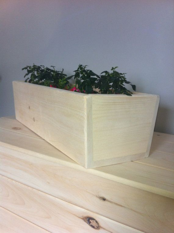 Solid Canadian Pine Flower Planter Box by CanadianWoodenCrafts