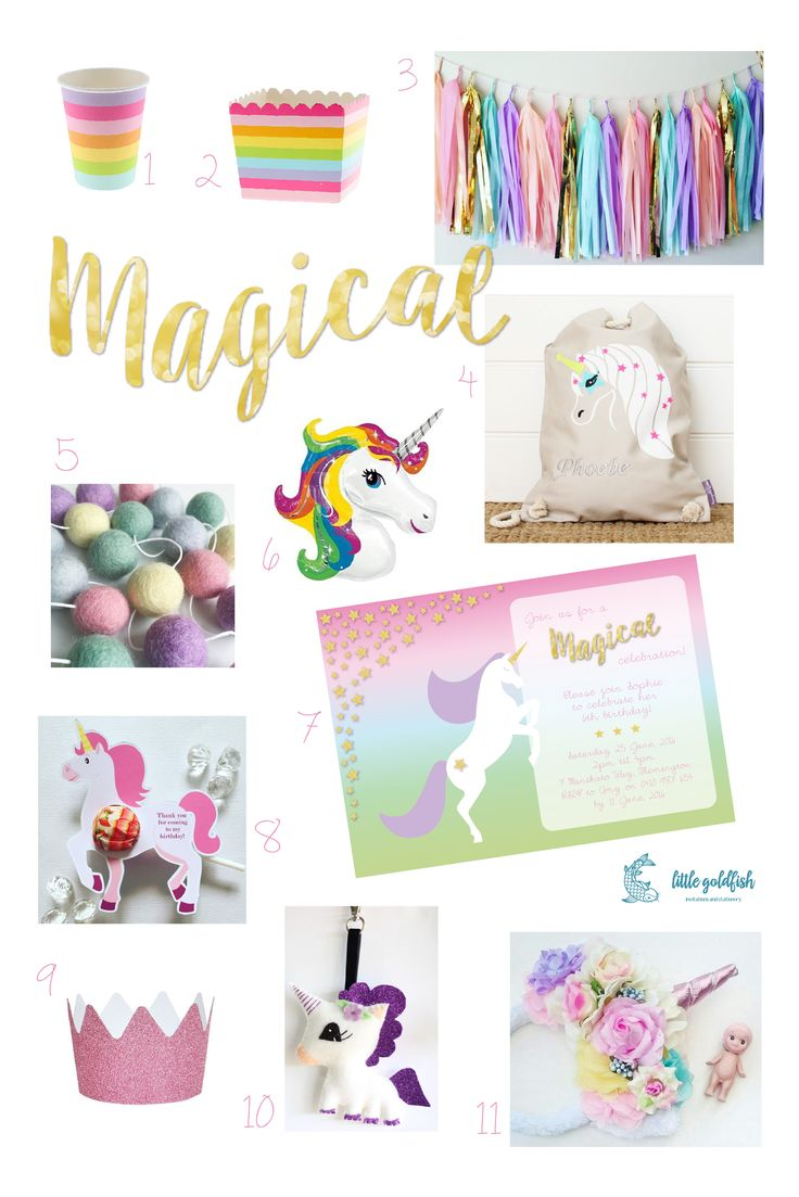 Party Inspiration: Pastel Rainbow Unicorn