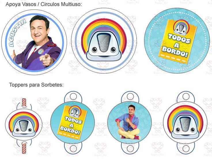 Kit Imprimible Topa Junior Express Candybar Invitaciones - $ 24,99 en MercadoLibre