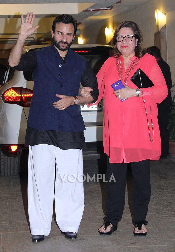 Saif Ali Khan with mother-in-law Babita... via Voompla.com