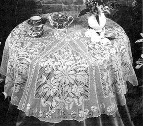 Delicadezas en crochet Gabriela: 20 Maravillosos modelos de manteles en ganchillo