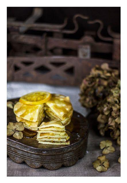 Orange and maple syrup pancakes