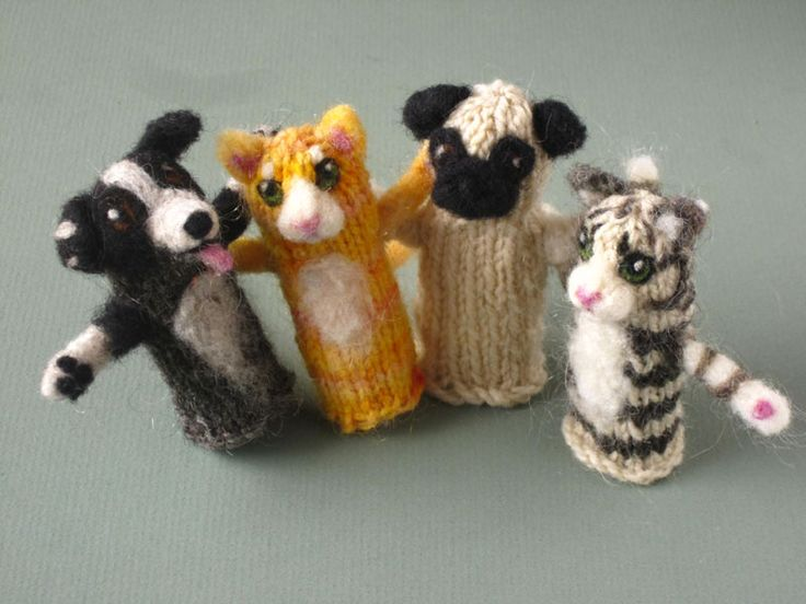 Knitting Patterns For Finger Puppets Free : 52 best images about Knitting Fingerpuppets on Pinterest Jungle animals, Au...