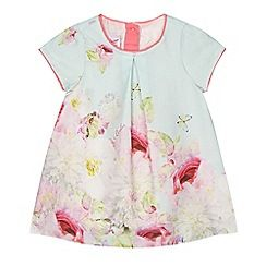 Baker by Ted Baker - Baby girls' pale blue and pink rose print dress