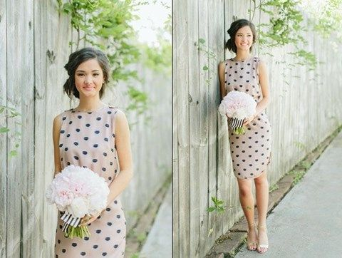 37 best Chic Polka Dot Bridesmaids' Dresses images on Pinterest ...