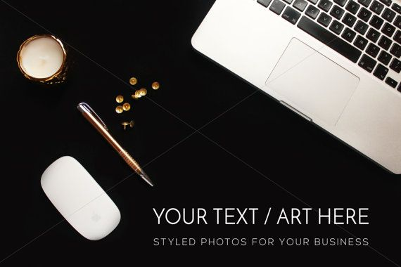 Gold Black and White Desktop Photography Keyboard by confettibears