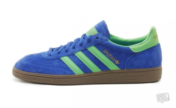 The Adidas Spezial makes a welcome return in an updated true blue and green zest silhouette.