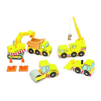 Ξύλινο σετ οχήματα οδοποιίας Le Toy Van