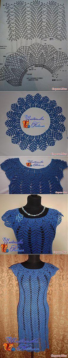 Crochet dress chart pattern