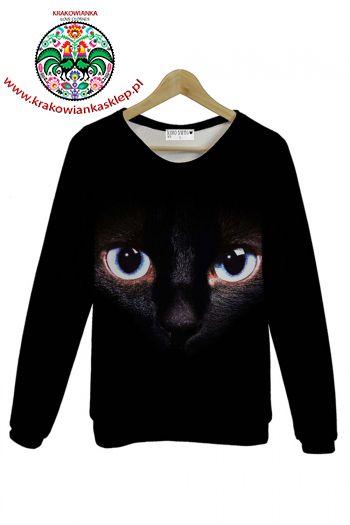 BLUZA - CAT IN THE DARKNESS - WWW.KRAKOWIANKASKLEP.PL