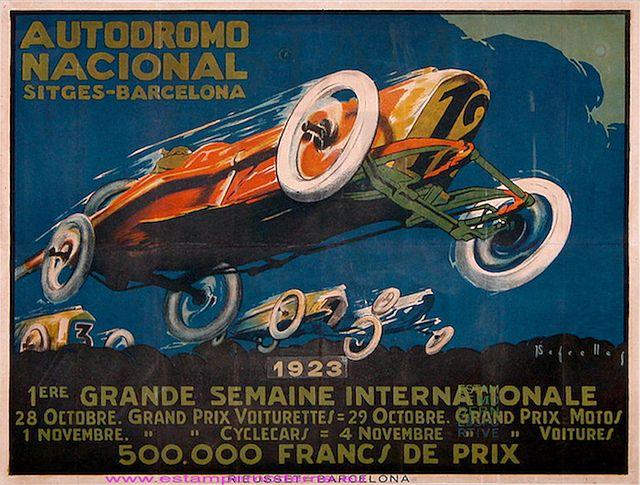 Segrelles Autodromo Nacional Sitges Barcelona 1923 VF imp Rieusset Barcelona | Flickr - Photo Sharing!