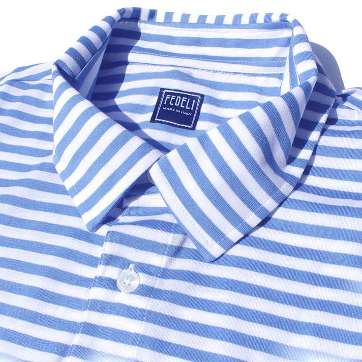 【楽天市場】フェデーリ FEDELI / ポロシャツ ボーダー 綿 半袖 ( ブルー ) メンズ:SOLFIGLIO by 日子 -HIKO-  #FEDELI #poloshirt #mensfashion #フェデッリ #フェデーリ #ポロシャツ