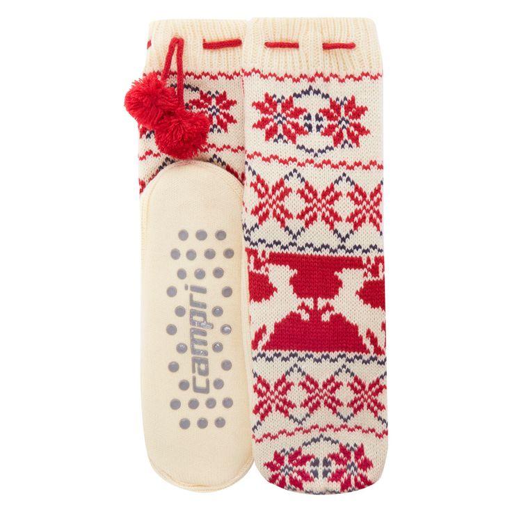 """Campri"" Cream Fair Isle Slipper Socks - TK Maxx (Women)"