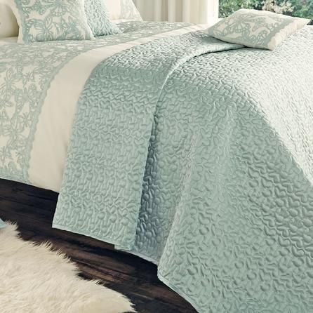 Duck egg blue & ivory Evie bedding Bedroom ideas