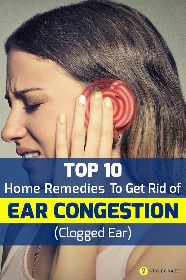 how to clear a clogged ear fast