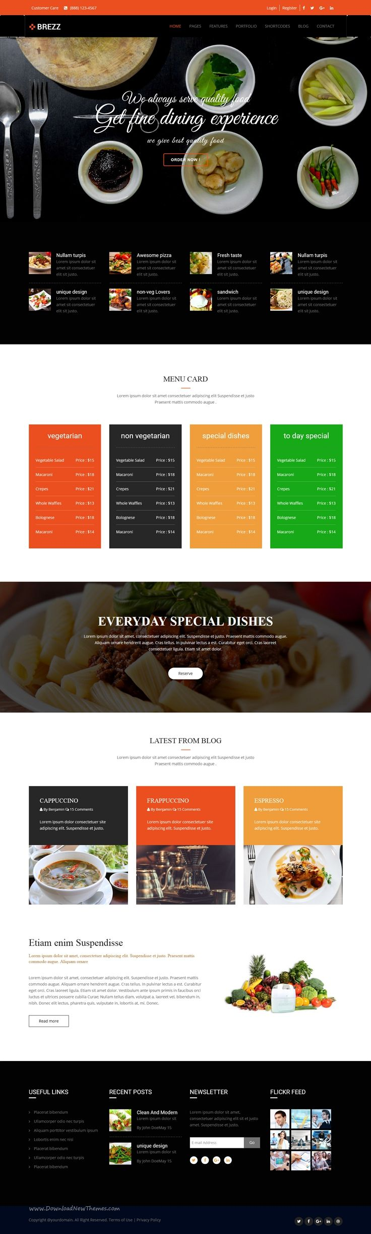 brezz is simple clean and professional 20 in 1 bootstrap theme for multipurpose