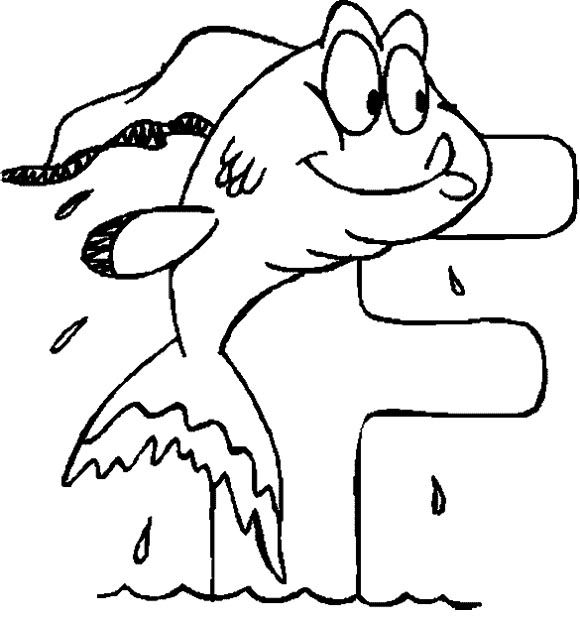 f for fish coloring pages - photo #25