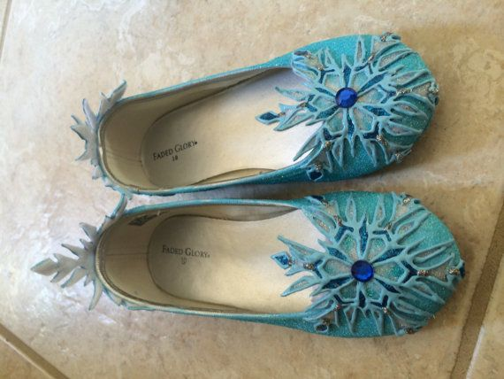 Scarpe piatte di Elsa ispirate film Disney di SPLENDIDIMAGINATIONS