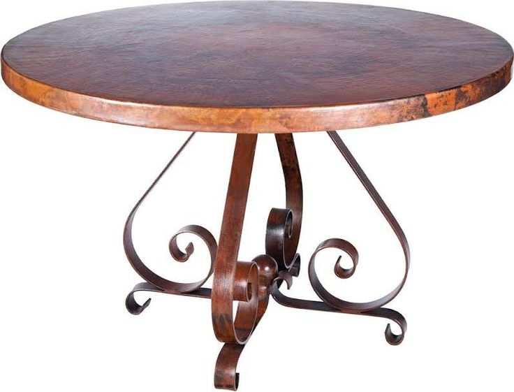 Round Coppertop Kitchen Table