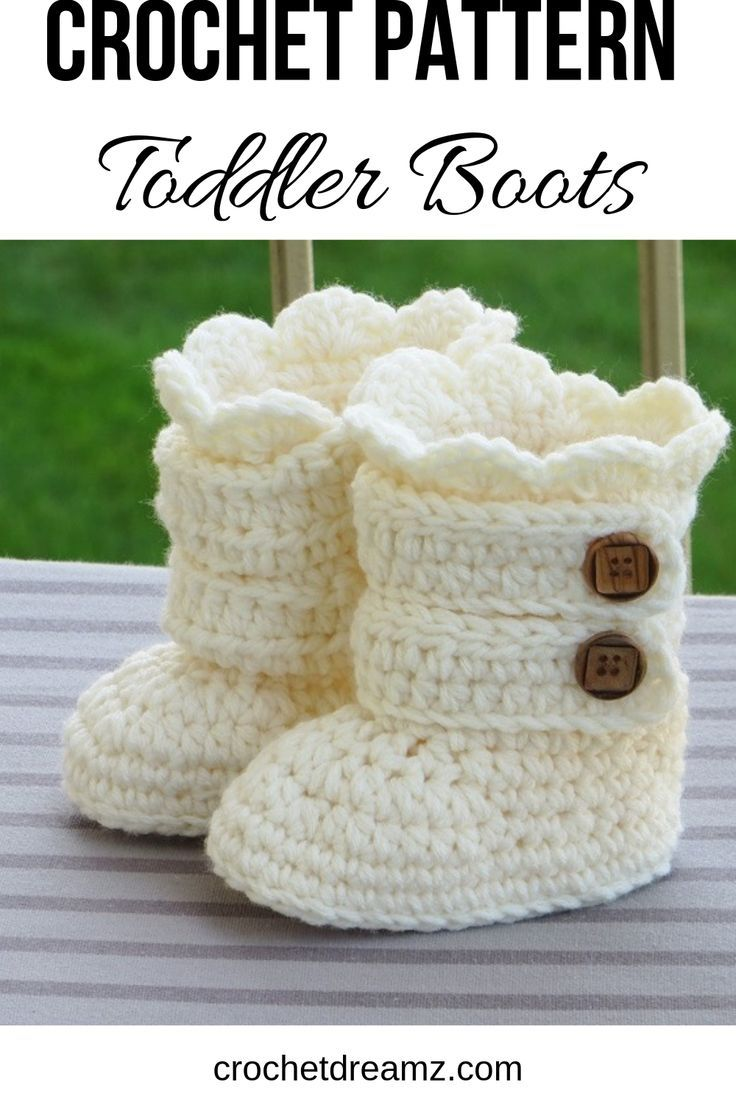 Toddler Classic Snow Boots, Toddler Boots Crochet Pattern, Pattern in US sizes 5,6, 7 and 8