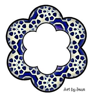 ArtbyJean - Paper Crafts: ---FRAMES - Flower Shapes