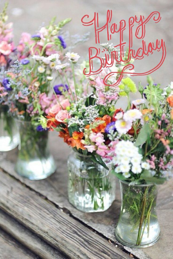 happy birthday images with flowers - Google Search