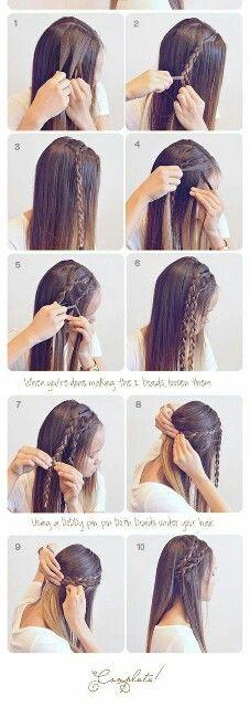 Peinado suelto con trenza.