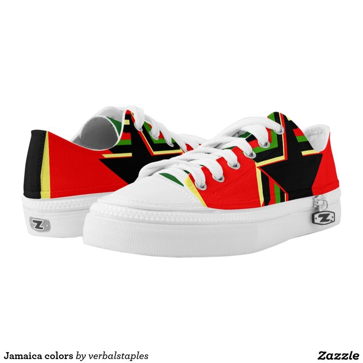 #Jamaica colors printed shoes