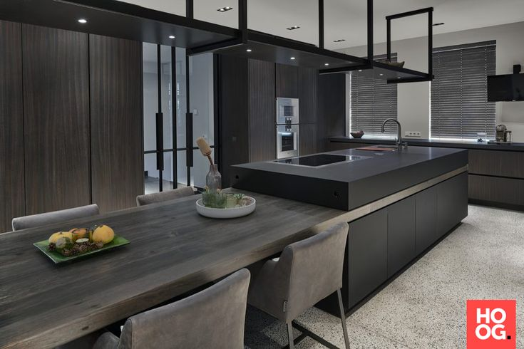 Moderne keuken design met keukeneiland