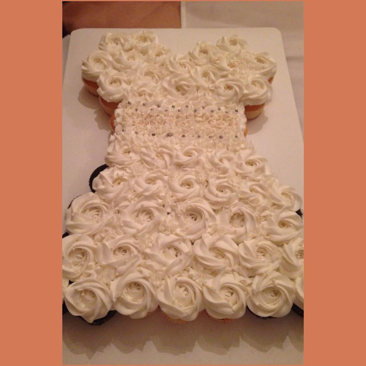 Bridal Shower #Cupcake #Wedding #Dress #Cake. Delicious from House of Cupcake!