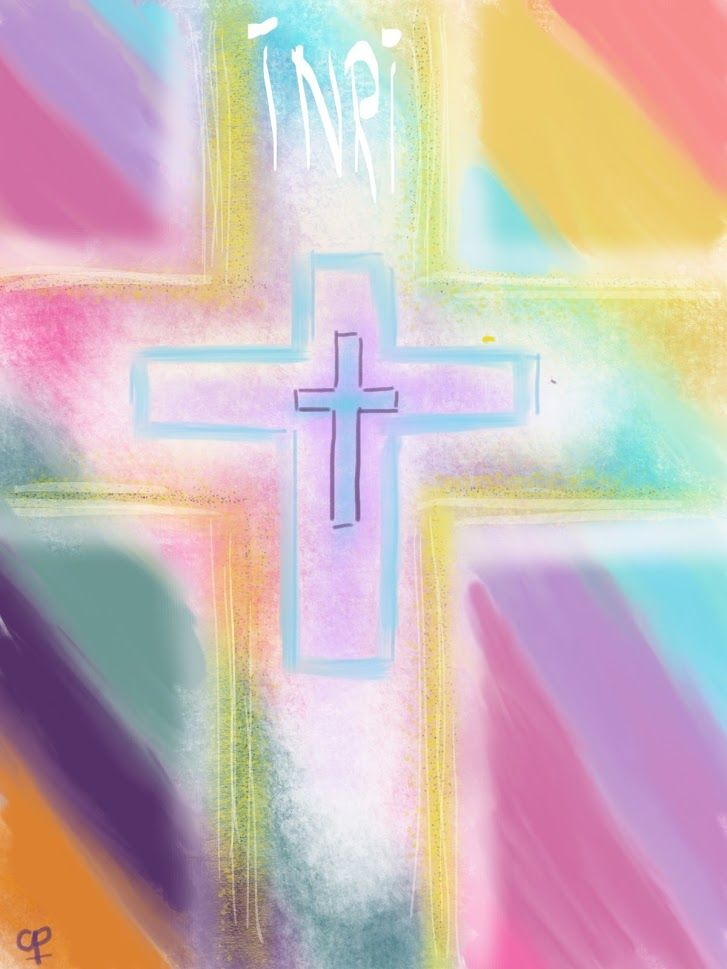 Kruis in pasteltinten