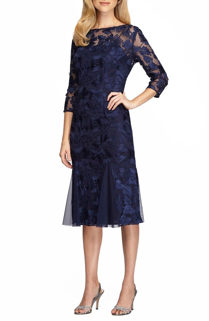 27c75d91d6e Main Image - Alex Evenings Lace Midi Dress (Regular  amp  Petite) Bride  Dresses