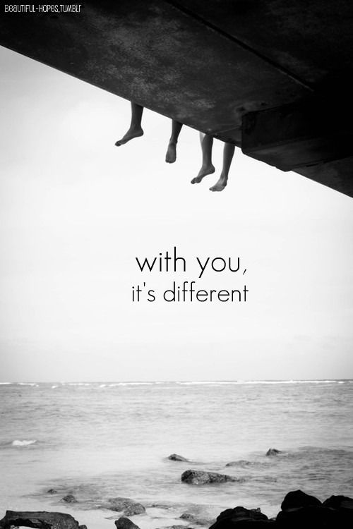 It's different.