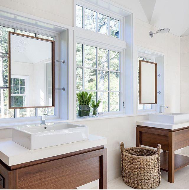 25 Best Bathroom With Vanity Under Window Images On Pinterest