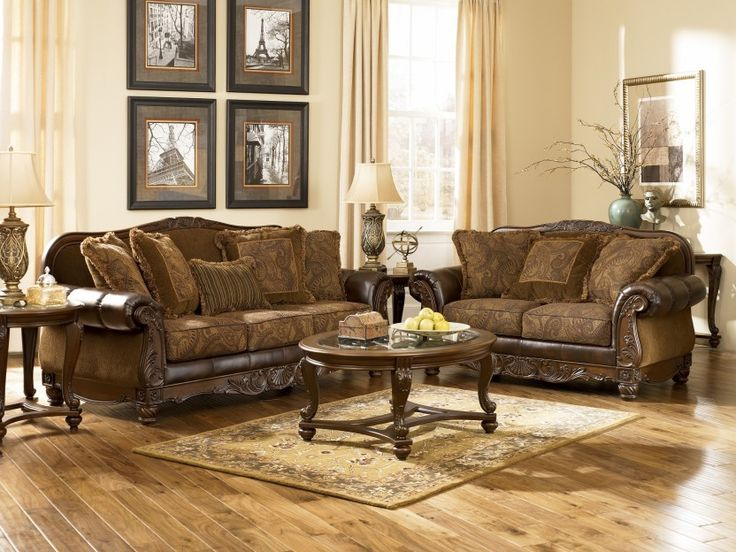 Fresco DuraBlend Antique Living Room Set By Ashley Furniture