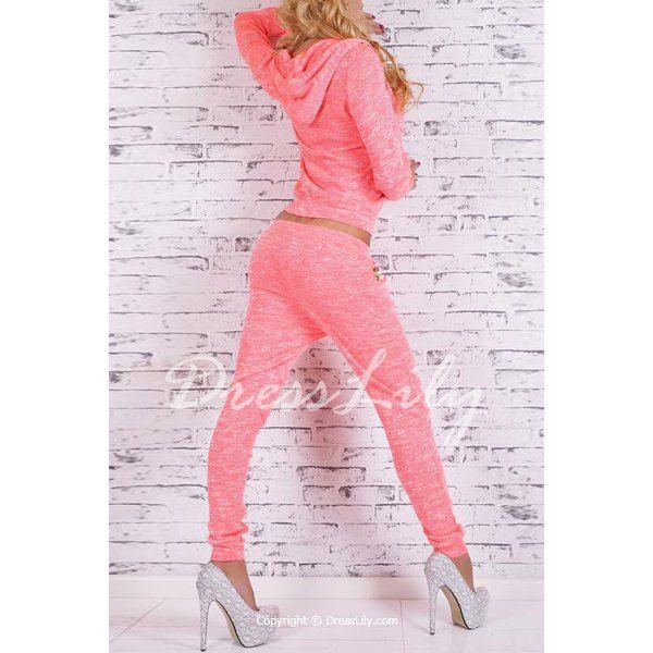 Stylish Hooded Long Sleeve Sequined Hoodie + Elastic Waist Pants Women's Twinset