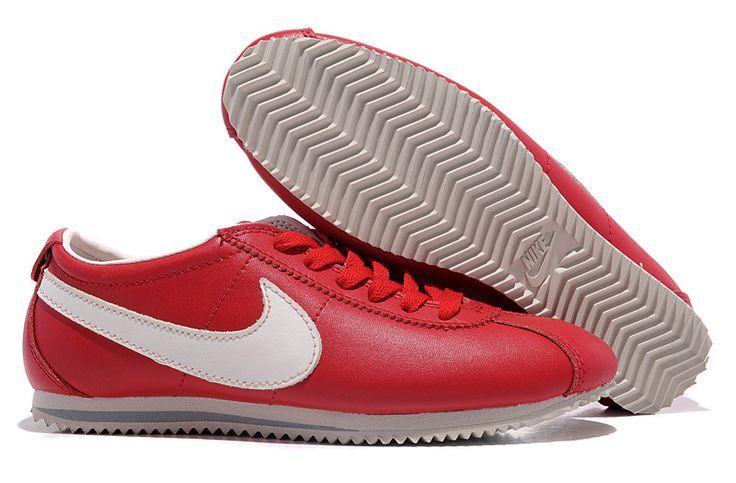 Prix D'usine Nike Cortez Peau Sombre Rouge Blanc Femme