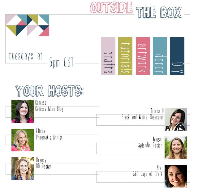 Outside [the Box] Tuesday Link Party that opens at 5:00 pm!  www.blackandwhiteobsession.com to link up and be inspired #linkparty #outsidetheboxparty