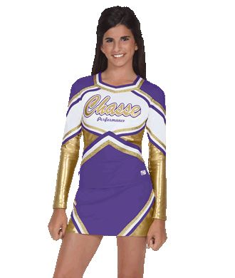 b055ed848b15 Discover ideas about School Cheerleading. In-Stock Trophy Metallic Stretch  Cheer Uniform Shell Top