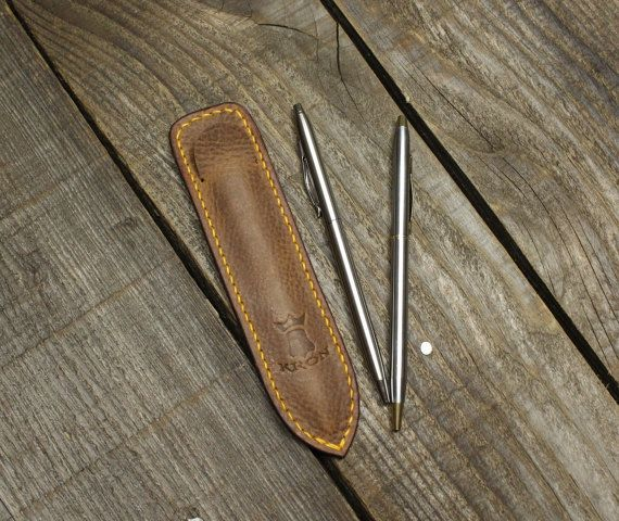 Check out this item in my Etsy shop https://www.etsy.com/listing/491613726/leather-pen-holster-slim-pen-leather