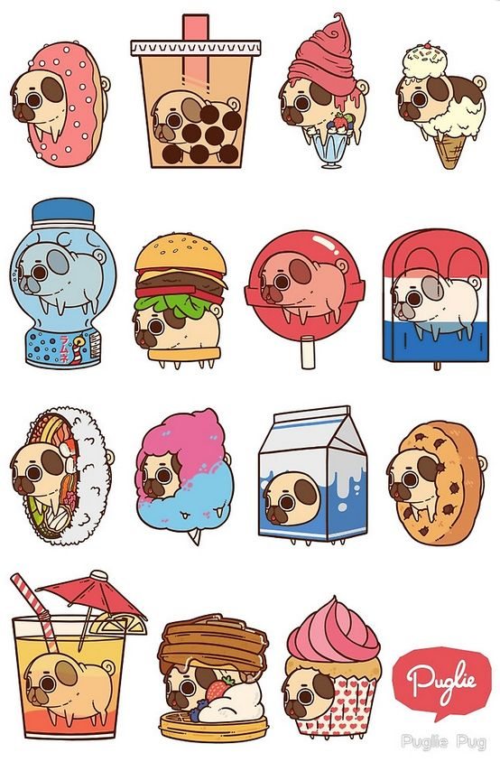 Puglie Pug products at Redbubble #illustration #pug #cute
