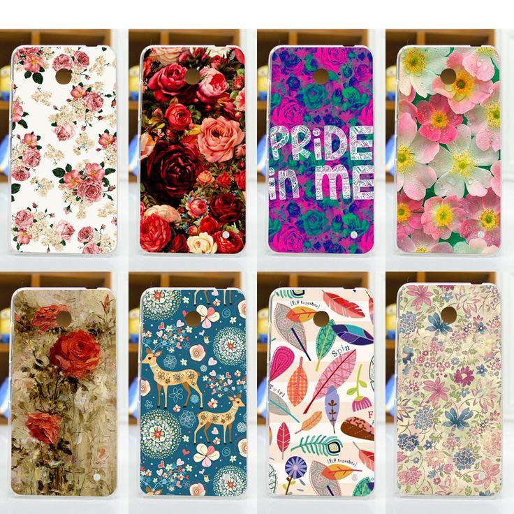 Купить товарВысокое Качество 11 модели красочные цветы футляр для nokia…